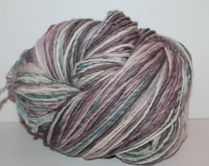 Handspun Falkland Wool Yarn.  Single Ply Worsted Weight. Huge 1lb. Skein. No Knots.  1lb/462 yards