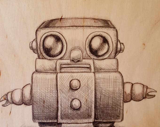 Robot - Original Drawing by Mr. Hooper of Nashville, Tennessee