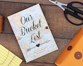 Bucket List Journal, Valentines Day Gift - Personalized Notebook, Boyfriend Gift, Girlfriend Gift, Wedding Shower Gift - MADE TO ORDER