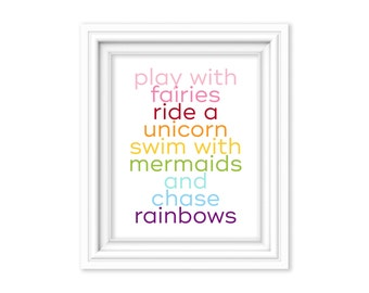 Unicorn Poster Print