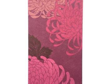 Japanese Envelopes Traditional Set of 8 - Flowers - Chrysanthemum