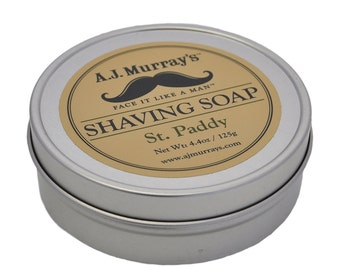 Shaving Soap, men's shaving products, vegan grooming products, men's grooming products, vegan shaving products, St. Paddy, St. Patrick