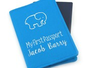 Personalized Boys Baby Kids My First Passport, Passport Holder, Passport Wallet, Passport Cover, Travel Gift