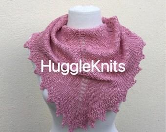 Baby Pink Mist Shawlette