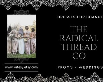 DEPOSIT only  Made in USA The Radical Thread Co Infinity Convertible  Wrap Dress any color /size / length  Support America's Resistance!