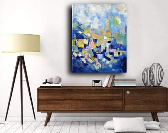 Original Painting, Acrylic Painting on Canvas, XL large Canvas Art, Abstract Art, Contemporary Art, Modern Art, Ready to Hang Free shipping