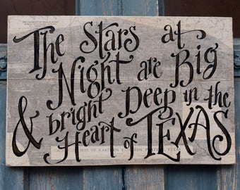 Deep In the Heart of Texas Sign - map - fathers day - Texas - Big Bend - geology