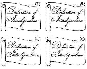 instant download postcard Declaration of Interdependence political postcard protest resist