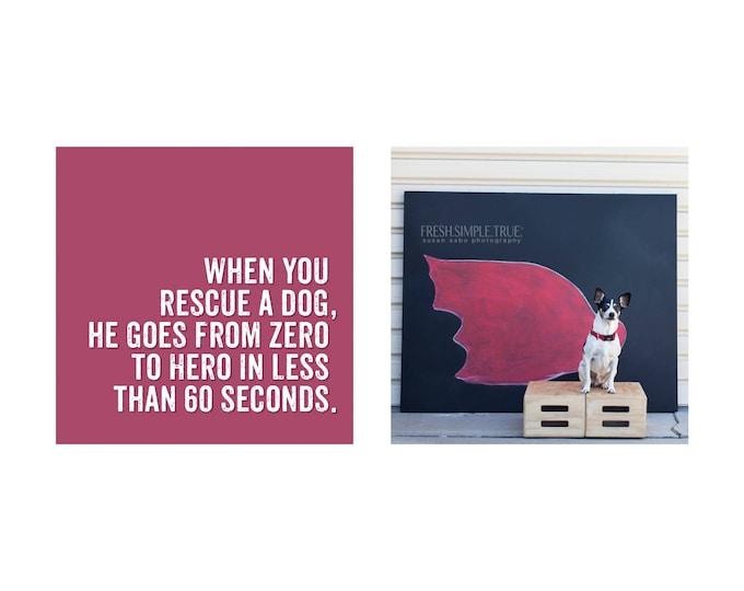 Featured listing image: Shelter Dog chalk art