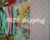 FREE Ship DIY Fabric + notions Multicolor Butterflies & Peach for 1 BRA + Panty by Merckwaerdigh