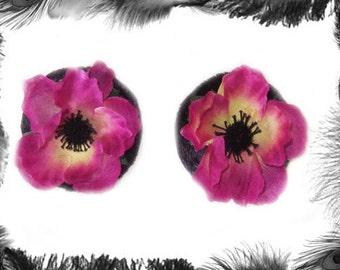 Sample Sale - Pink Flower Burlesque Pasties