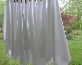 Ten Vintage White Cotton Napkins - Battenburg Lace Trimmed Napkins