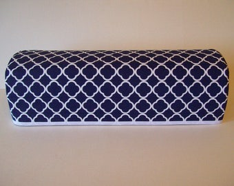 Cricut Dust Cover / Brother Scan-N-Cut Cover / Cricut Machine Cutter Protector / Quilted / Navy And White / Quatrefoil Design/Trellis Design