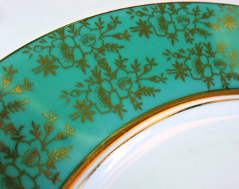 China Mosaic Tiles - TeAL and GoLD FLORAL -  Mosaic Tiles
