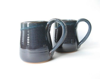 Pottery Mugs 15 oz. Set of 2
