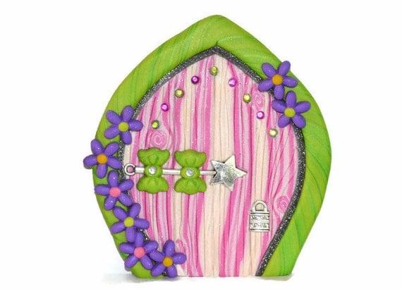 Items similar to pink princess fairy door pink fairy door for Princess fairy door