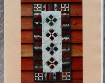Quilt Pattern - Bear Claw Runner by MH Designs - Paper Foundation Pattern