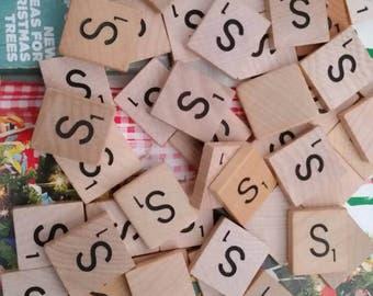 Letter S scrabble letter tiles 50