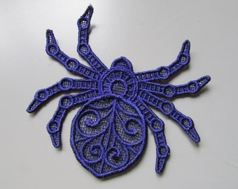 Embroidered Spider Lace Applique