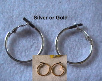 Hoop Earrings ~ Hypo Allergenic Hoop Earrings ~ Silver Hoop Earrings ~ Gold Hoop Earrings ~ Surgical Steel Hoop Earrings