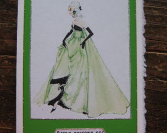 "Vintage Barbie 5x7 note card ""BArbie stepping out"""