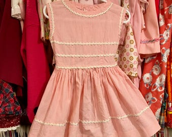 1950s Handmade Dress 2/3T