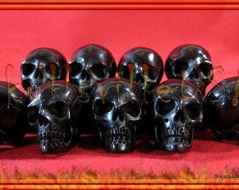 Skull Bead Individually Hand-carved From Buffalo Horn