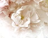 Sepia Peony Photograph,  Shabby Chic Wall Decor, Monochromatic Still Life,  Flower Photography