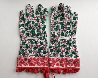 Designer Garden Gloves - Flowers and Pom Poms