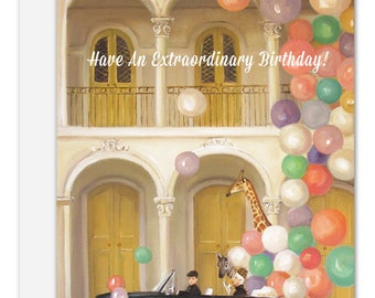 Old Town. Birthday Card. SKU JH1123