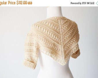 January Sale Black Tea Leif Shrug - Short Sleeved Shrug in a Light Lacy Knit for Spring. Women's Sweaters, Boho, Fae, Summersweaters, Tea-Dy