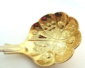 Gold Coloured Berry Ladle, EPNS Vintage Spoon, Silver Plated Serving Spoon, Victorian Style Fruit Ladle