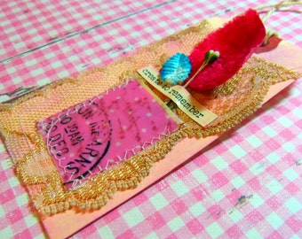 Gift tag - handmade, Pink, Create to remember