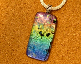 Dichroic Pendant - Dichroic Jewelry - Fused Glass Pendant - Fused Glass Jewelry - Dichroic Necklace - Fused Glass Necklace - Glass Pendant