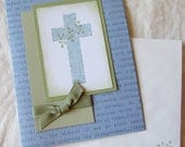 Handmade Greeting Card - Stampin' Up - CROSS - Easter, thinking of you, encouragement, praying for you, i love you, all occasion card, blank