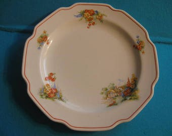 Country Cottage Plate, Decorative Plate Floral Plate