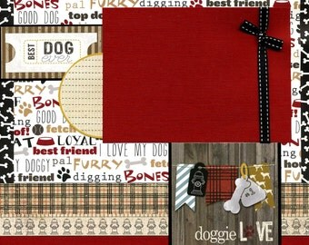 Doggie Love - Premade Scrapbook Page - Best Dog Ever