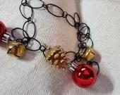 christmas boot bling bracelet