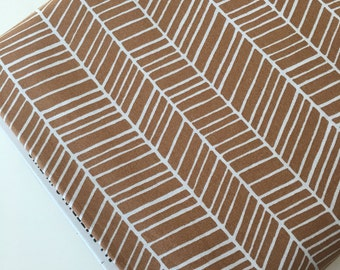Herringbone fabric, Modern Baby Quilt fabric, Woodland Nursery fabric, Woodland Blanket fabric, Brown fabric, Quilting, Choose Your Cut