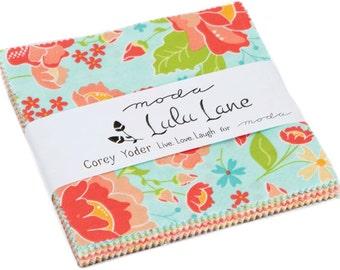 "Lulu Lane Moda Charm Pack 42 -  5"" precut fabric quilt squares by Corey Yoder"
