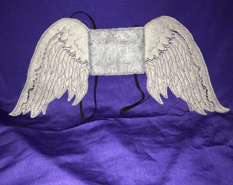 Custom Embroidered Weeping Angel Wings