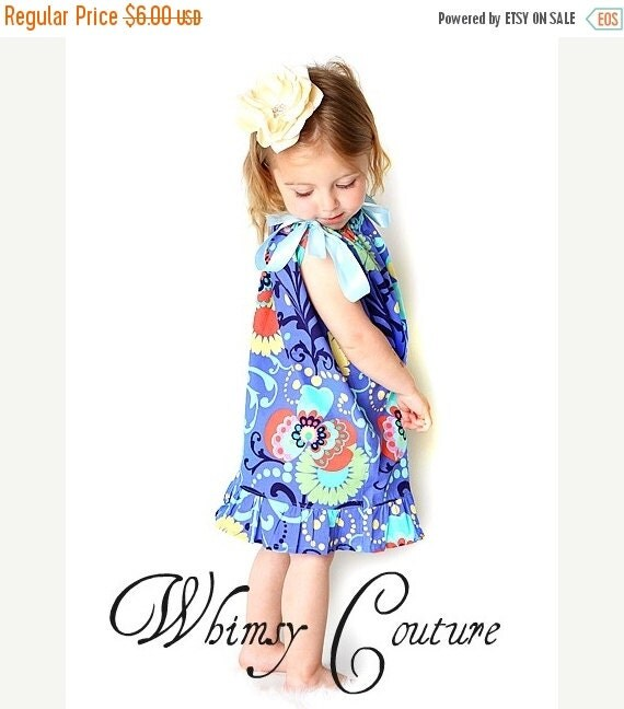 45% OFF Pillowcase Dress w. Ruffles Sewing Pattern w. halter version