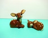 Vintage Fawns, Cute Deer, Fairy Pets, Gnome Garden, Miniature, Set, Ceramic Estate Sale