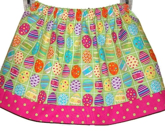 Girls Skirts Pysanky Eggs Easter Skirt Easter Eggs Skirt Lime and Hot Pink  toddler skirt Kids Clothes Twirl Skirts Summer Skirts
