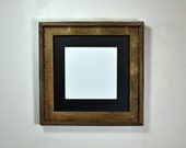 8x8 or 10x10 mat in 12x12 repurposed wood picture frame