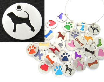 Coonhound Sterling Silver Necklace Pendant Charm - Lots of Colors