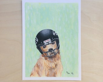 Golden Receiver: Falcon - Unframed 5x7 Limited Edition Giclee Print