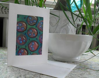 Bubble Pattern Greeting Card ATC ACEO OOAK