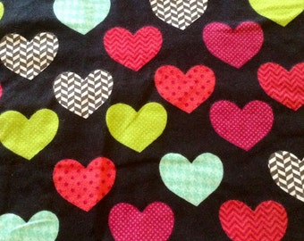 VALENTINES HEARTS flannel Pajama/Lounge Pants  Available in children's sizes 0-3 months to 10