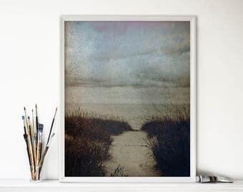 Black and White Photography - Beach Photography - Beach Decor - Ocean Art - Michigan - Great Lakes - Nature Photograph - Minimal Art - Decor